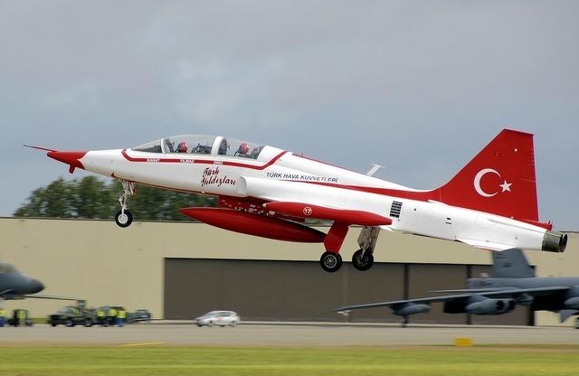 Aircraft jet start.