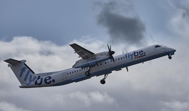 Aircraft manchester jet, transportation traffic.