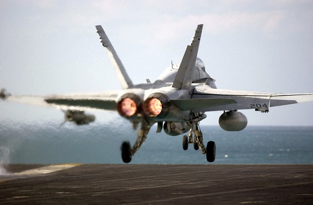 Aircraft military aircraft launching flight deck.