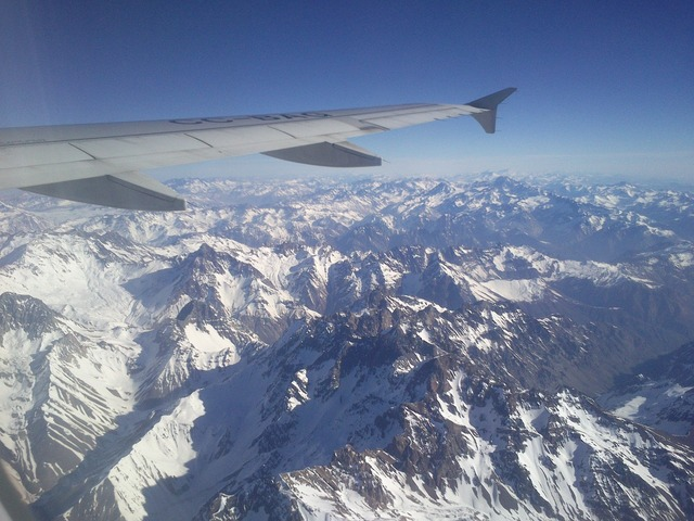 Aircraft mountain andes, nature landscapes.