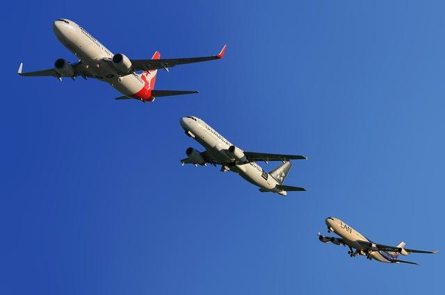 Aircraft qantas air new zealand, travel vacation.