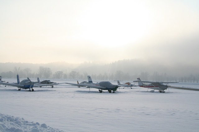 Aircraft sport aircraft winter.