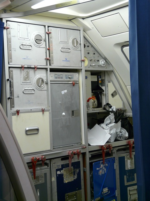 Aircraft storage space container.