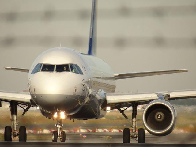 Aircraft tarmac runway.