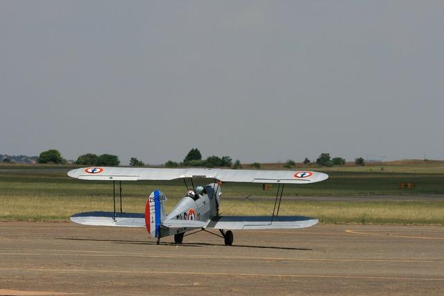 Aircraft vintage biplane.