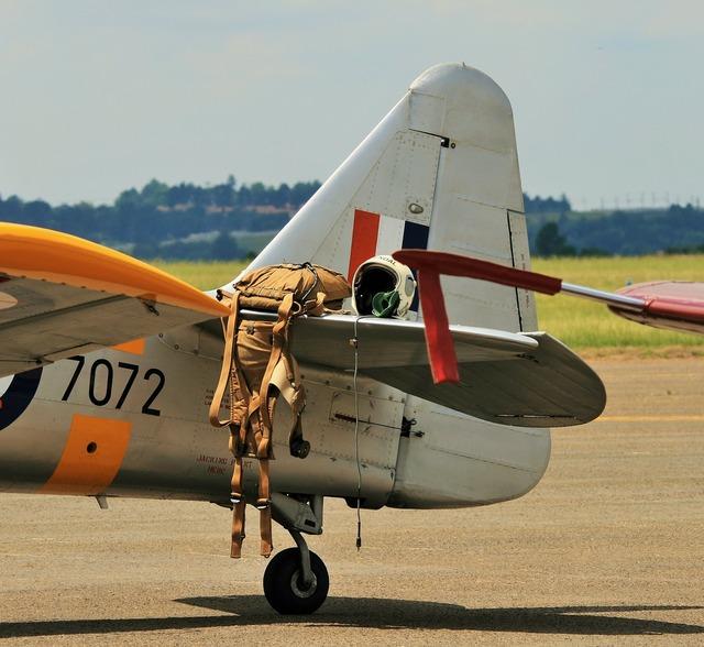 Aircraft wing north american harvard.