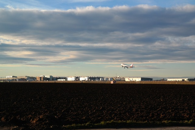Airport aircraft departure.