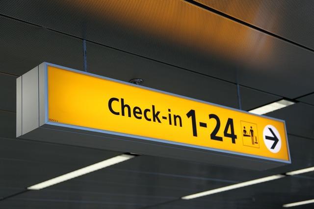 Airport arrow board, travel vacation.