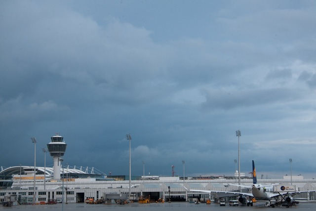 Airport international munich, architecture buildings.