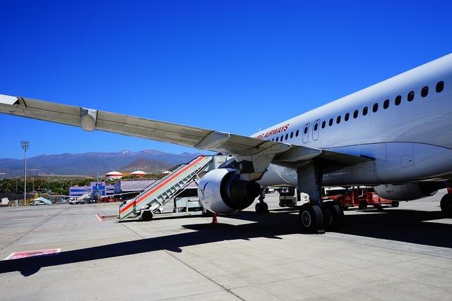 Airport tenerife runway.