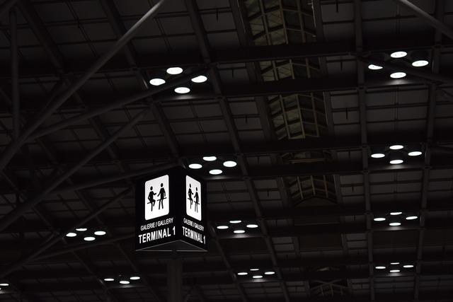 Airport terminal exposure, architecture buildings.