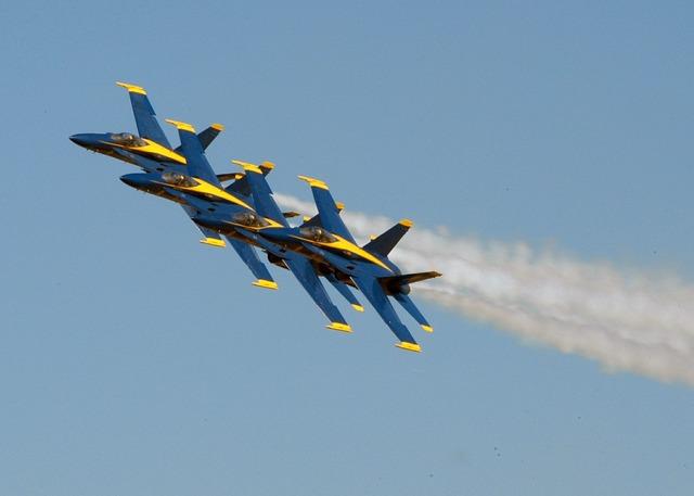 Airshow airplane blue angels.
