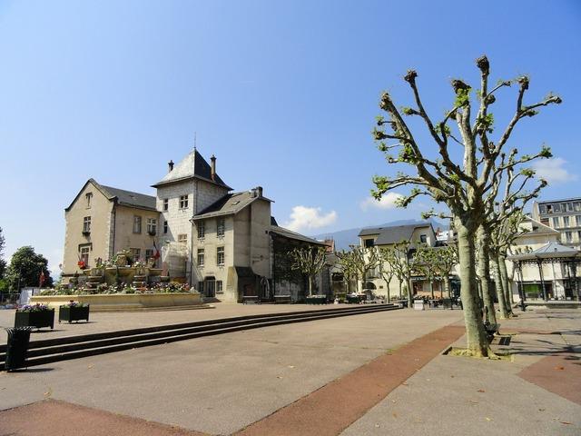 Aix-les-bains france town hall, architecture buildings.