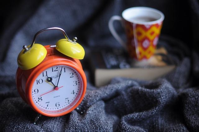 Alarm clock blur clock.