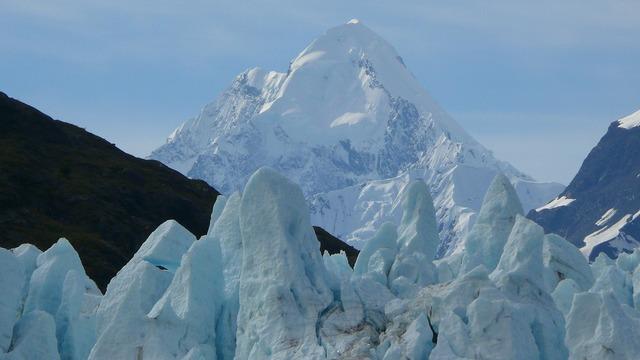 Alaska the glacier the national park.