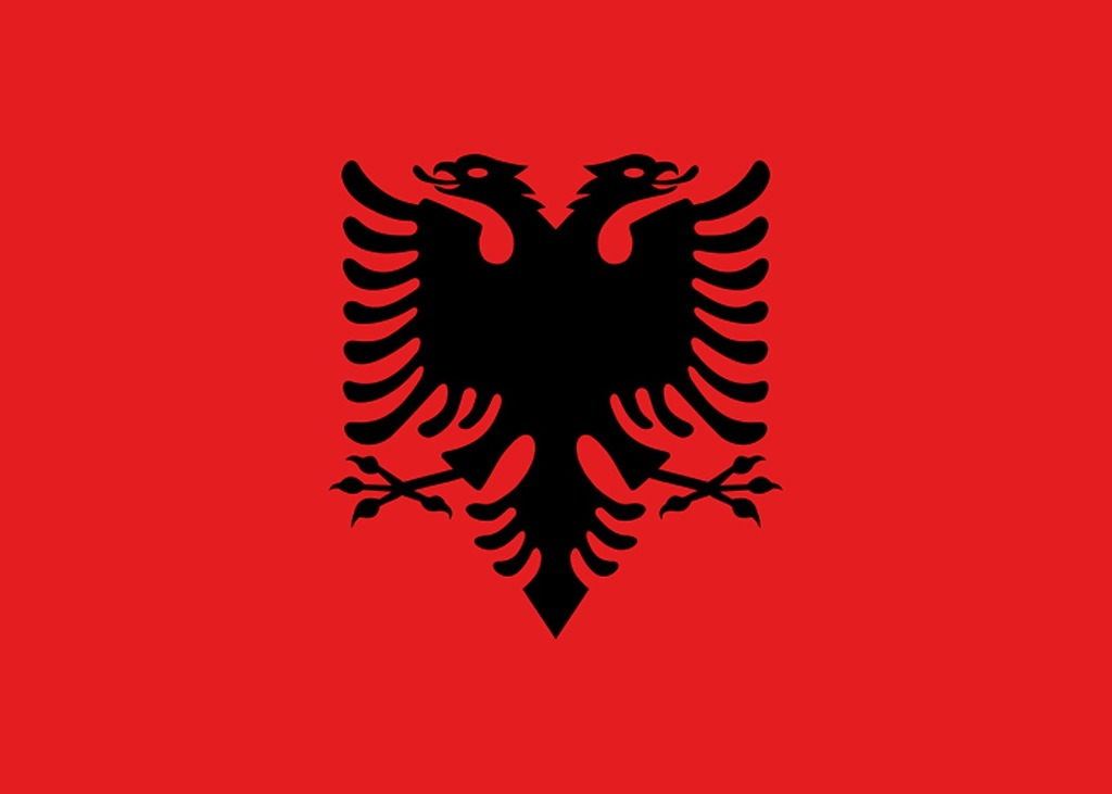 Albania flag land.