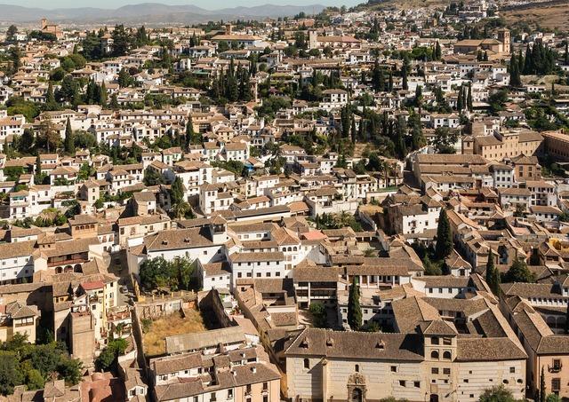 Albayzin granada spain, architecture buildings.