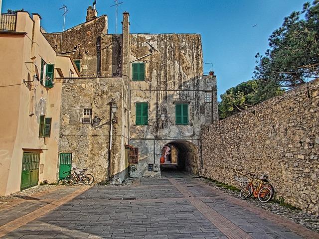 Albenga liguria square.