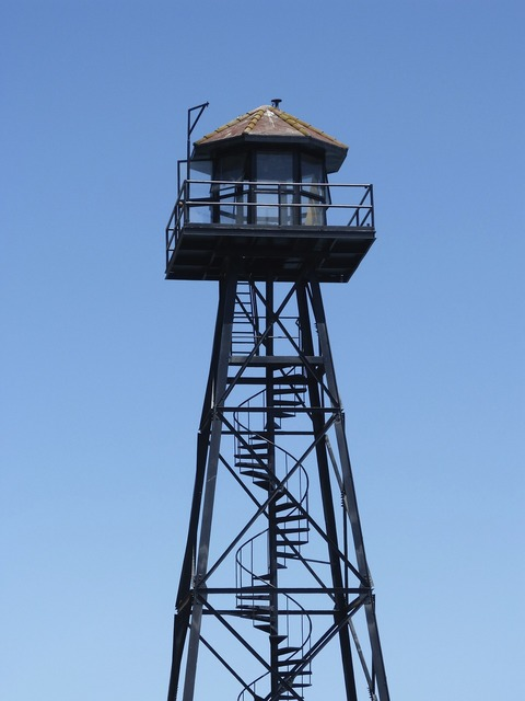 Alcatraz watchtower guard tower, travel vacation.