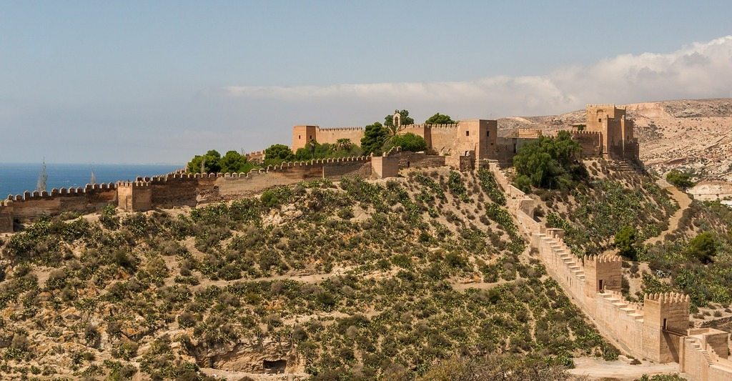 Alcazaba of almeria spain castle, places monuments.