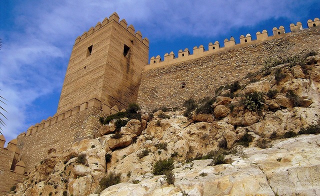 Alcazaba of almeria spain fortifications, places monuments.