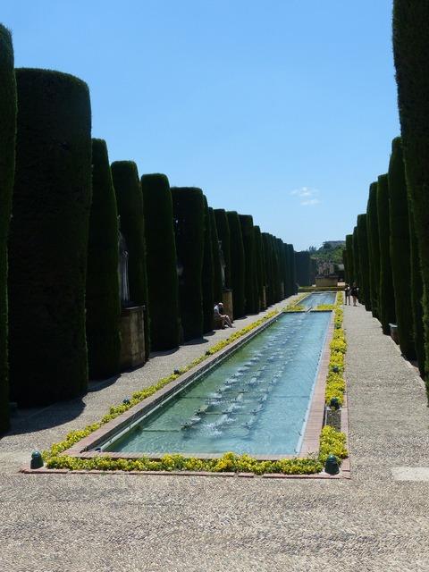 Alcázar de los reyes cristianos park hedge planting.