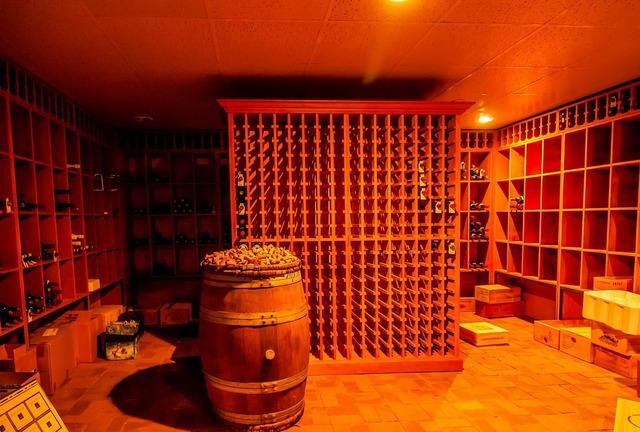 Alcohol barrel basement, food drink.