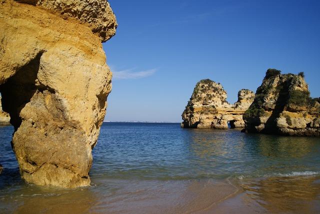 Algarve west coast portugal tourism, travel vacation.