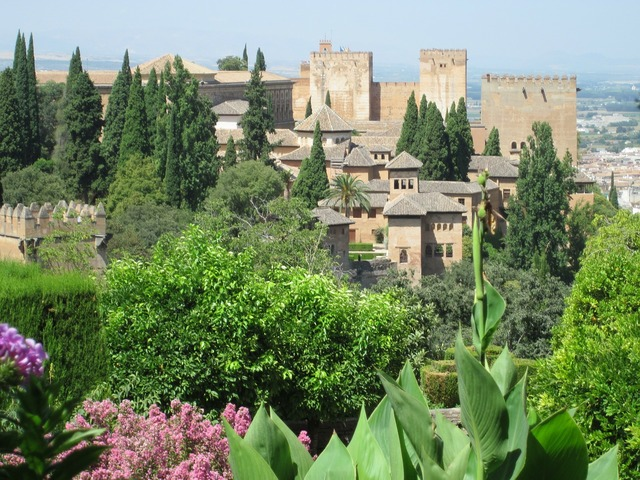 Alhambra granada building, architecture buildings.
