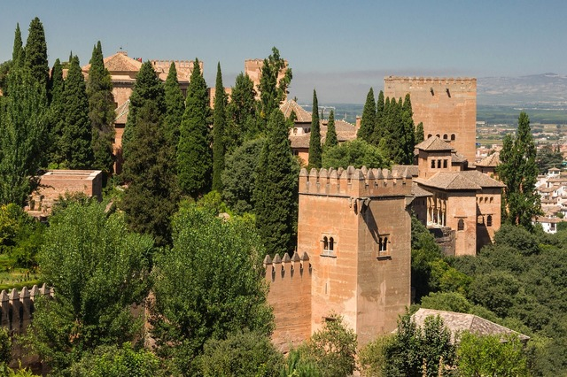 Alhambra granada spain, architecture buildings.