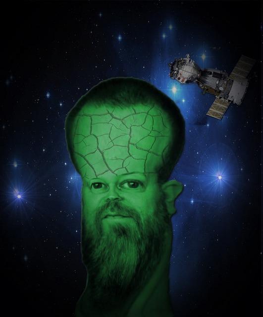 Alien space universe, science technology.