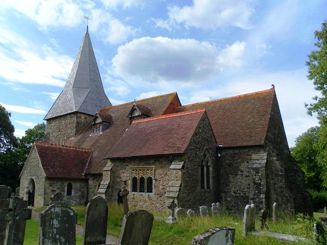 All saints church beckley sussex, architecture buildings.
