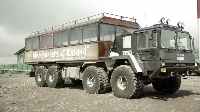 All-terrain vehicle iceland truck, transportation traffic.