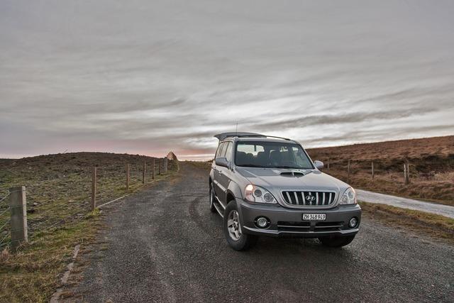 All wheel drive jeep auto, nature landscapes.