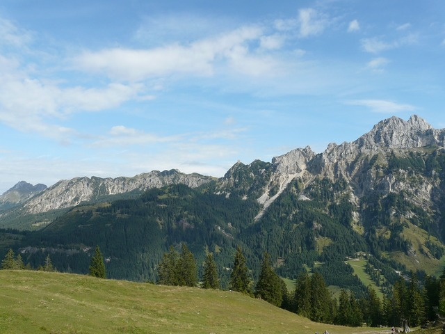 Allgäu alps alpine mountains.