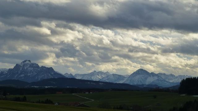 Allgäu foothills of the panorama.