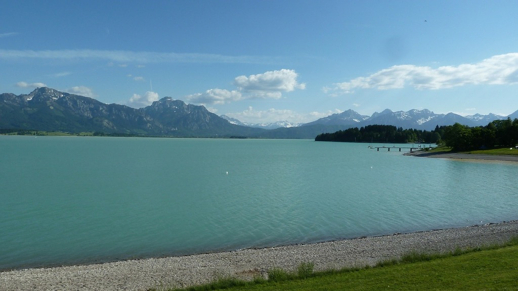 Allgäu lake forggensee spring.
