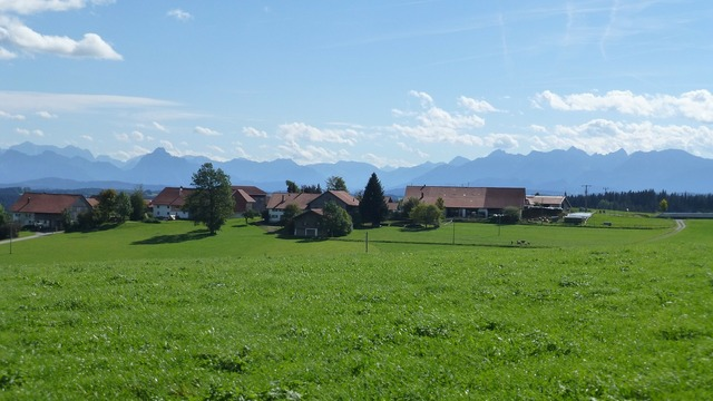 Allgäu mountains village.
