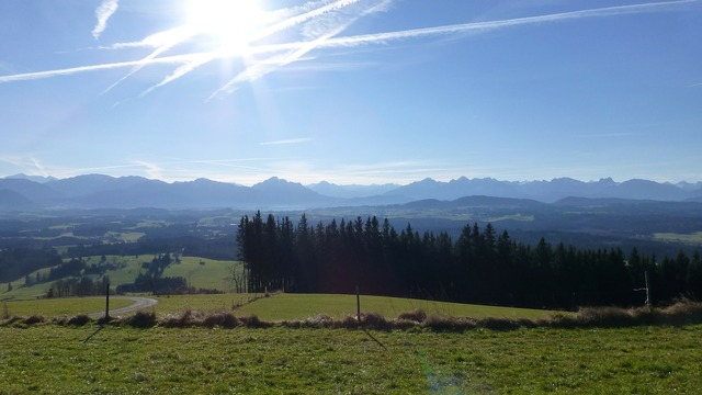 Allgäu panorama mountains.