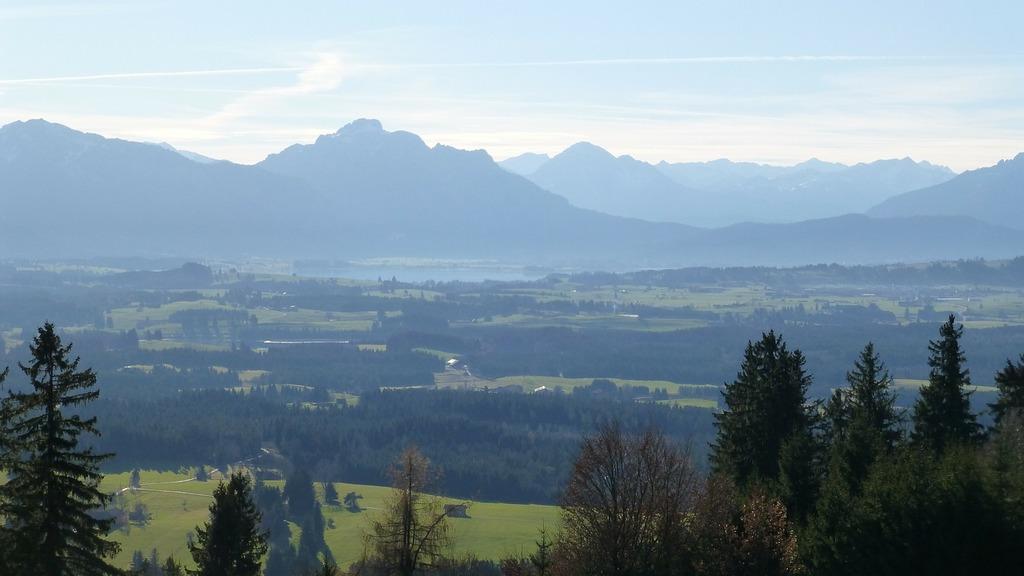 Allgäu panorama mountains.
