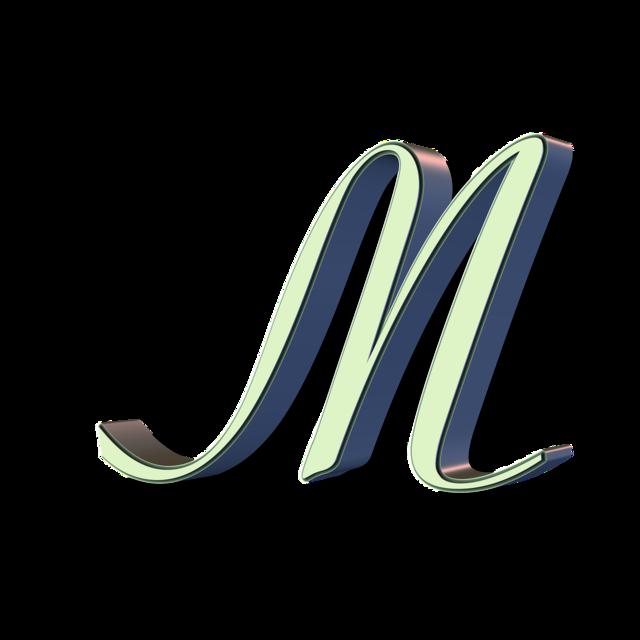 Alphabet letter font.