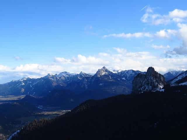 Alpine alpine panorama tegelberg.
