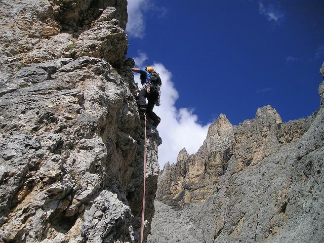 Alpine climbing bergsport climb.