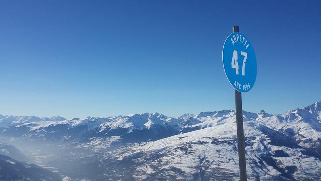 Alpine mountains blue slopes.