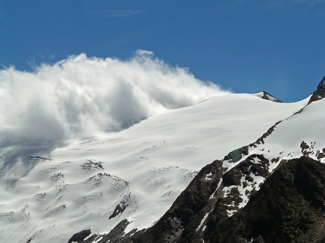 Alpine mountains glacier.