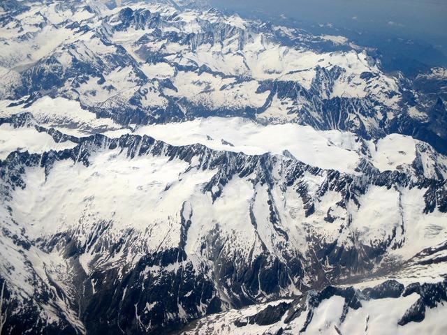 Alpine mountains summit.