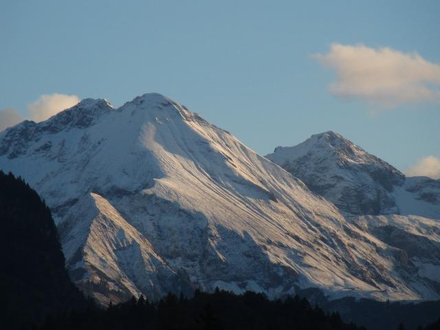 Alpine snow mountains.