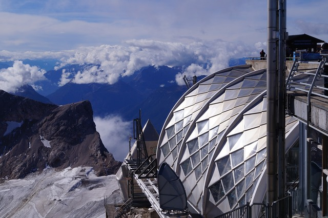 Alpine zugspitze mountains.