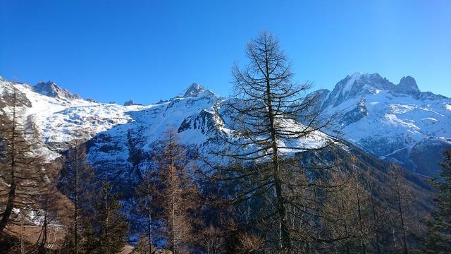 Alps mountains view.