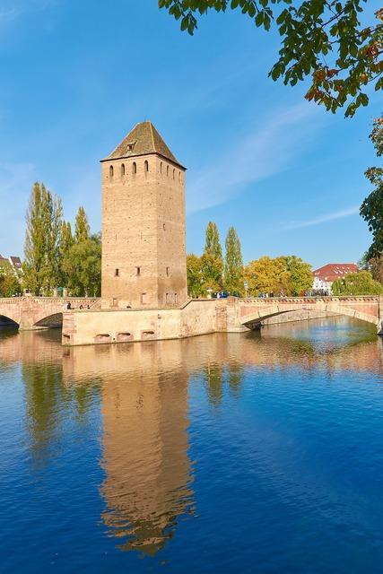 Alsace henry tower pont envelopes, architecture buildings.